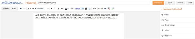 Administrace bloggeru je velmi snadná