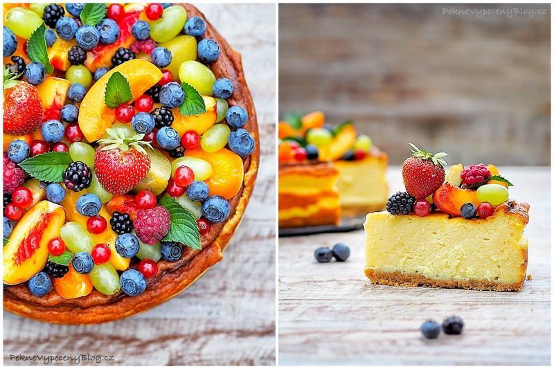 Smetanovo - sýrový dort s ovocem