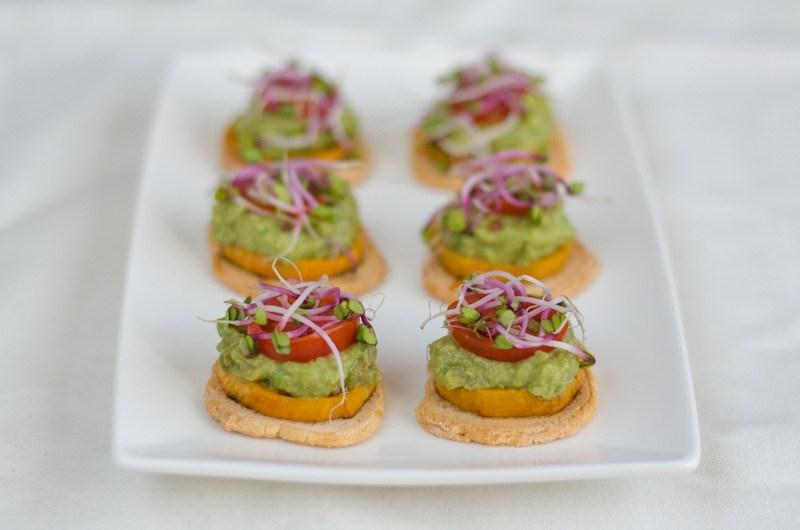 Batátovo-avokádové jednohubky