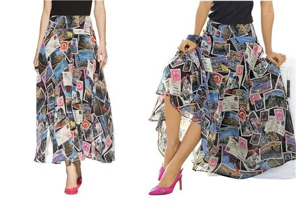 aa0001c9045 Dlouhá sukně s italskou inspirací pohlednice potisku
